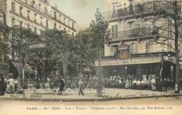 75019 - PARIS - Station De Métropolitain BOLIVAR Devant Le Bar Tabac USSE Croisement 41 Rue Secrétan Et 126 Rue Bolivar - District 19