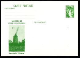 Entier Postal - YT 2058-CP1 - Sabine - Année Du Patrimoine - Moulin Tablette - Maubeuge - Biglietto Postale