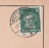 Ostpreussen Deutsches Reich Karte Mit Tagesstempel Woeterkeim Wöterkeim Kreis Bartenstein 1928 Werbung - Deutschland