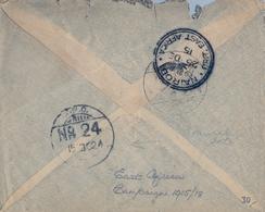 1915 , UGANDA , ON FIELD SERVICE , F.P.O. Nº 24 , AFRICA DEL ESTE DE 1915 / 18 , CIRC. A NAIROBI - Kenya, Uganda & Tanganyika