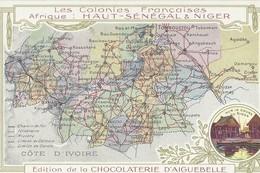 Contour Géographique     Haut Senegal   Et Niger - Cartes Postales