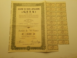 Titre Belge : Gelatine En Toutes Applications Geta à Hyon - Shareholdings