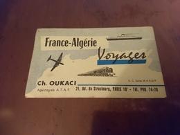 Carte France Algérie Voyage - Transports