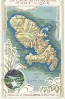 Contour Géographique   Martinique - Cartes Postales