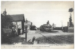 Lison Gare De Lison Arrivée Du Train De Chebourg - Autres Communes