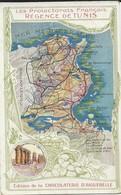 Contour Géographique   Regence De Tunis - Cartes Postales