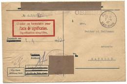 Obernai 2.4.1947 - Lettre En Franchise Du Tribunal Cantonal - Marcophilie (Lettres)