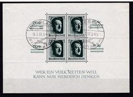 Deutsches Reich, Block 9, Gest. (K  5887a) - Deutschland