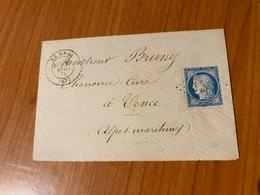 LE BROC (06)  GC 648 -  Indice 40- CAD Type 17-   ( Port Offert ) - 1849-1876: Classic Period