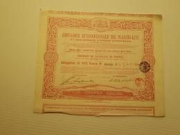 Titre Belge : Compagnie Des Wagons Lits - Shareholdings