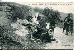 N°1363 T -cpa Mitrailleuses D'infanterie En Action - Guerre 1914-18
