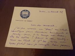 Carte De Visite Torpilleur Le Hardi - Bateaux