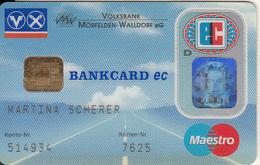 GERMANY - Volksbank Morfelden-Walldorf EG, Eurocheque, 05/98, Used - Tarjetas De Crédito (caducidad Min 10 Años)