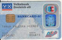 GERMANY - Volksbank Dreieich EG, Eurocheque, 04/96, Used - Tarjetas De Crédito (caducidad Min 10 Años)