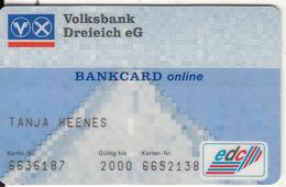 GERMANY - Volksbank Dreieich EG, Bankcard Online, 04/96, Used - Tarjetas De Crédito (caducidad Min 10 Años)