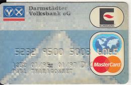 GERMANY - Darmstadter Volksbank EG(reverse ICA), Eurocard/MasterCard, 05/94, Used - Tarjetas De Crédito (caducidad Min 10 Años)