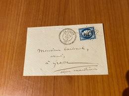LA COLLE  ( 06) - GC 6239 -  Indice 15 - CAD Type 24 - ( Port Offert ) - 1849-1876: Classic Period