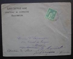 Saumur 1884 Louis Duvau Ainé Château De Varrains Lettre Pour Le Vice Consul De Turquie Château De Mus à Murviel Hérault - Marcophilie (Lettres)