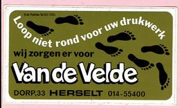 Sticker - Drukwerk Van De Velde - Dorp 33 HERSELT - Pegatinas