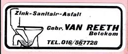Sticker - Zink Sanitair Asfalt - Gebr. VAN REETH Betekom - Stickers