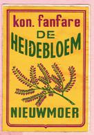 Sticker - Kon. Fanfare DE HEIDEBLOEM - Nieuwmoer - Stickers