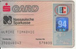 GERMANY - Nassauische Sparkasse Bank, Eurocheque, Used - Tarjetas De Crédito (caducidad Min 10 Años)