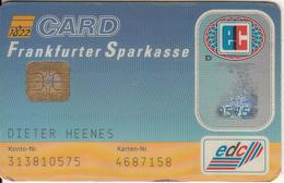 GERMANY - Frankfurter Sparkasse Bank(reverse DSV), Eurocheque, 09/96, Used - Cartes De Crédit (expiration Min. 10 Ans)