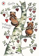 Postal Stationery - Bear - Bears On Tree Branches - Red Cross 2020 - Suomi Finland - Postage Paid - Finlandia