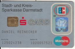 GERMANY - Sparkasse Darmstadt Bank(reverse DSV), Eurocheque, 04/99, Used - Tarjetas De Crédito (caducidad Min 10 Años)