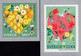 Sweden - 2020 - Heartfelt Greetings - Mint Self-adhesive Coil Stamp Set - Sweden