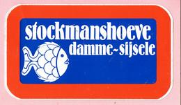 Sticker - Stockmanshoeve - Damme Sijsele - Vis - Autocollants