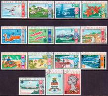 Cayman Islands 1970 SG #273-87 Compl.set Used - Iles Caïmans