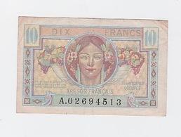 Billet De 10 FR. Du Trésor Français 1947 - Tesoro