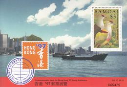1997 Samoa Hong Kong 97 Birds Oiseaux Souvenir  Sheet MNH - Samoa