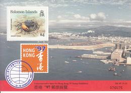 1997 Solomon Islands Hong Kong 97 Crabs Souvenir  Sheet MNH - Salomoninseln (Salomonen 1978-...)