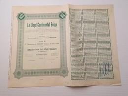 Titre Belge : Le Lloyd Continental Belge - Shareholdings