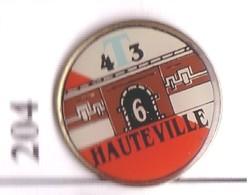 FF204 Pin's Ville Village HAUTEVILLE GARE SNCF ?? COTE D'OR Achat Immédiat - Villes