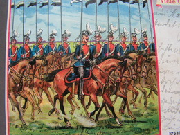 Parade Uniformen , Hanau 1902 Nach Giessen - Künstlerkarten