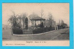 CPA SOIGNIES : Square De La Gare - Ed. A. Delmoitiez, Soignies - Circ 19?? - 2 Scans - Soignies