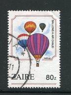 ZAIRE- Y&T N°1181- Oblitéré (montgolfières) - Zaïre