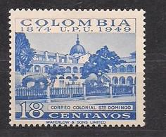 Colombia Colombie 1950  Yvertn° 449 *** MNH Cote 5,50 € UPU Haute Valeur - Colombie