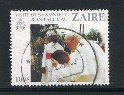 ZAIRE- Y&T N°1040- Oblitéré (pape Jean-paul II) - Zaïre