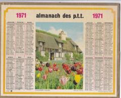 Calendrier Almanach Du Facteur 1971 - SAONE ET LOIRE (71) - Calendars