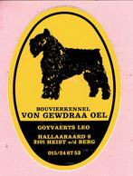 Sticker - BOUVIERKENNEL VON GEWDRAA OEL -  - GOYVAERTS LEO - Hallaaraard Heist O/d Berg - Stickers