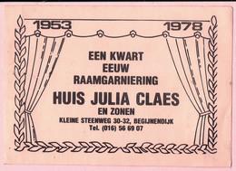 Sticker - Een Kwart Eeuw Raamgarniering HUIS JULIA CLAES En Zonen - Kleine Steenweg Begijnendijk - Stickers
