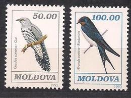 Moldova Moldavie 1993  Yvertn° 55-56 ***  MNH Cote 8,70 Euro Faune Oiseaux Vogels Birds - Moldavie