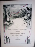 68 MENU PRESIDENTIEL 68 SAINTE MARIE AUX MINES INAUGURATION DU TUNNEL  8 AOUT 1937 MENU STERN TRES BEL ETAT - Menus