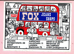 Sticker - FOX Jeans Shop - Levis Marc O'Polo - Leuven Diest Aarschot Landen Willebroek Heist O/d Berg - Stickers