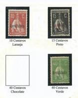 Ceres Com Sobretaxa - Revalidado -  Af. 488, 489, 491 - 1910 - ... Repubblica