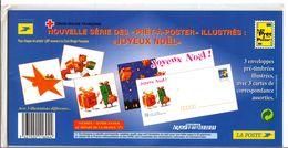 "Enveloppes + Cartes Lot De 3 Prêt à Poster  -  Lettre Monde Entier 20g, ""Joyeux Noel"" - Postal Stamped Stationery"